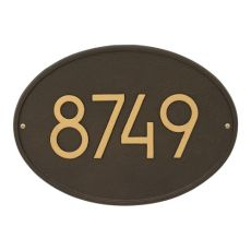 Hawthorne Modern Personalized Wall Plaque, Aged Bronze