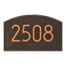 Legacy Modern Personalized Wall Plaque, Oil Rubbed Bronze