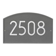 Legacy Modern Personalized Wall Plaque, Pewter/Silver