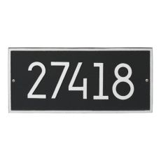 Hartford Modern Personalized Vertical Wall Plaque, Black/Silver