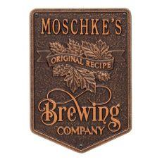 Custom Original Recipe Brewing Company Beer Plaque, Oil Rubbed Bronze