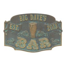 Custom Established Bar Plaque, Pewter / Silver