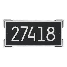 Roanoke Modern Personalized Wall Plaque, Oil Rubbed Bronze