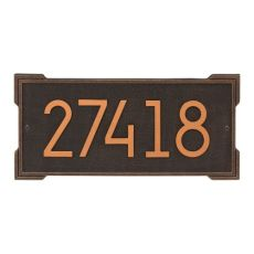 Roanoke Modern Personalized Wall Plaque, Aged Bronze