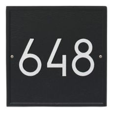Square Modern Personalized Wall Plaque, Oil Rubbed Bronze