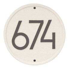 Round Modern Personalized Wall Plaque, Pewter/Silver