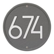 Round Modern Personalized Wall Plaque, Black/Silver