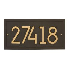 Rectangle Modern Personalized Wall Plaque, Coastal Green