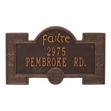 Failte Plaque, Black Gold