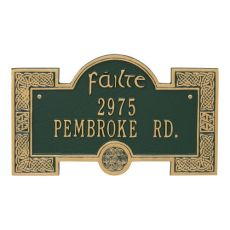 Failte Plaque, Bronze Gold