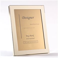 Brass 5x7 Picture Frame with Easel Back
