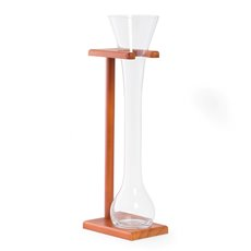 Half Yard of Ale Glass with Wooden Stand, 24oz