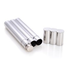 Stainless Steel Double Cigar Tube with 2 oz Flask
