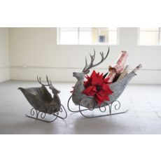 Deer Sleighs Set of 2