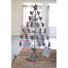 Metal Christmas Card Tree - Rustic Grey