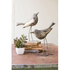 Metal Birds - Rustic Grey Set of 2