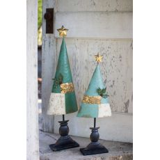 Painted Metal Trees Set of Two