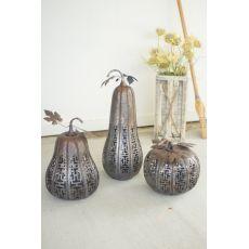 Metal Rustic Galvanized Pumpkins Set of 3