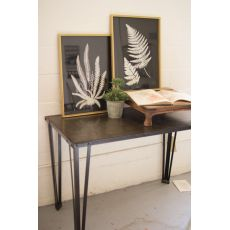 Black And White Fern Prints Under Glass Set of Two