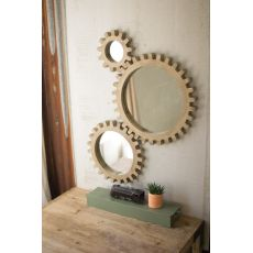 Wooden Gears Mirrors Set of 3