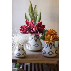 Ceramic Vases - Off White Set of 3