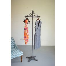 Spinning Clothes Rack With Cast Iron Base