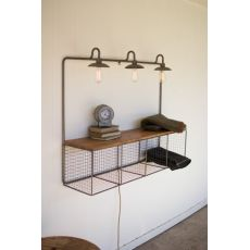 Wire Cubby With Three Lights