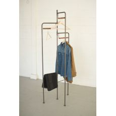 Wood And Metal Folding Display Rack