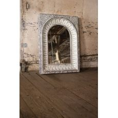 Pressed Metal Arched Wall Mirror