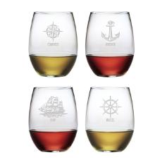 Captain'S Assortment Stemless Wine Glass Set
