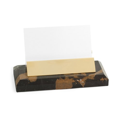 Tiger Eye Marble with Gold Plated Business Card Holder