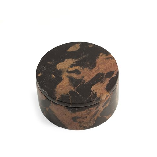 Tiger Eye Marble Round Box