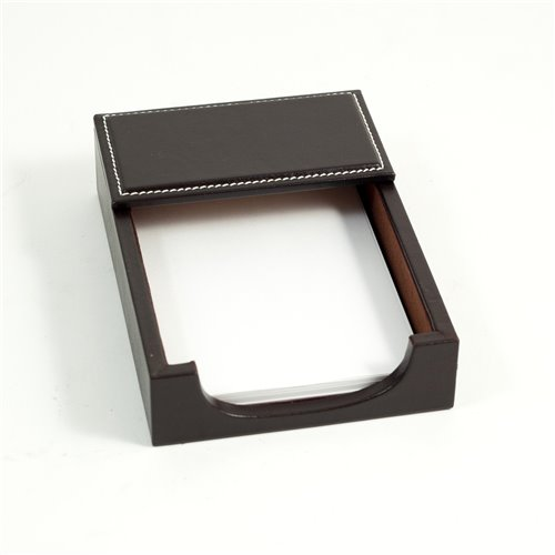 Coco Brown Leather 4x6 Memo Holder