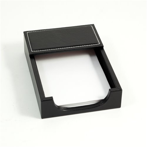 Black Leather 4x6 Memo Holder