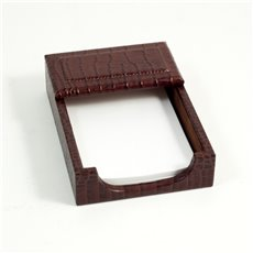 Brown Croco Leather 4x6 Memo Holder