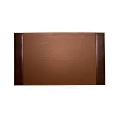 Brown Croco Leather 20x34 Desk Pad