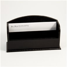 Black Croco Leather 2 Section Letter Rack