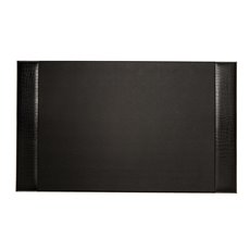 Black Croco Leather 20x34 Desk Pad