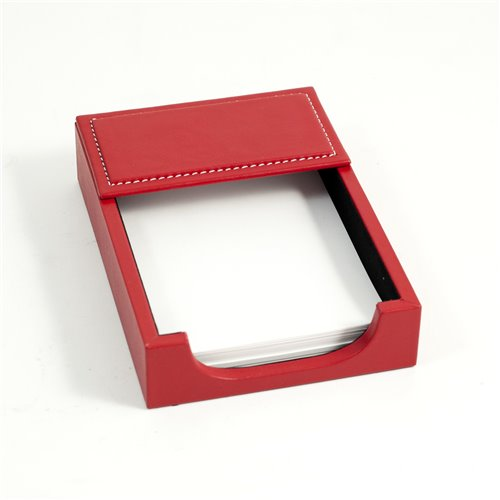 Red Leather 4x6 Memo Holder