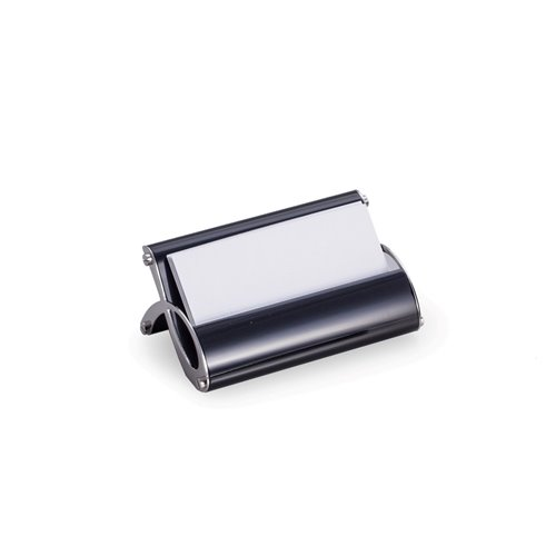 Stainless Steel Business Card Holder with Black Enamel Finish