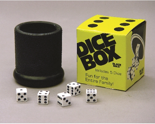 Black Max Dice Cup and Dice