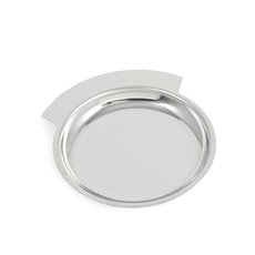 Chrome Plated Round Tray and Wine Bottle Coaster