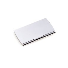 Silver Plated Business Card Case with Smooth Finish