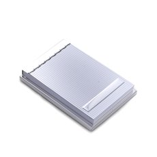 Silver Plated 4x6 Memo Pad Holder with Lined Cover