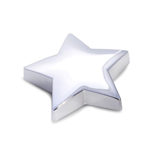 Silver Plated Star Paper Weight