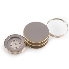 Gold Plated Paperweight and Fold Out Magnifier with Compass