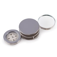 Chrome Plated Paperweight and Fold Out Magnifier with Compass