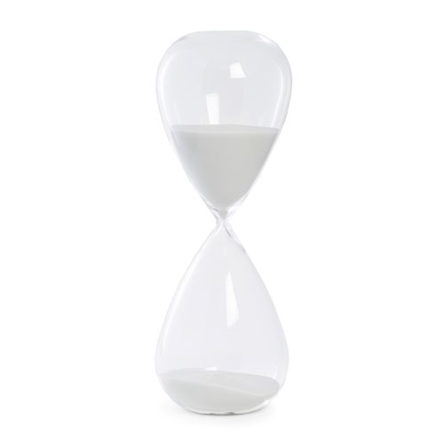 90 Minute Crystal Sand Timer with White Sand