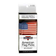 American Flag Picks  40pc