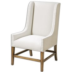 Uttermost Dalma Linen Wing Chair